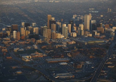 Aerial-Sunset-Photo-of-Downtown-Denver-Colorado