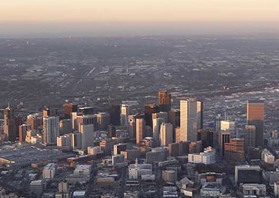 Sunset on Denver, CO Panorama