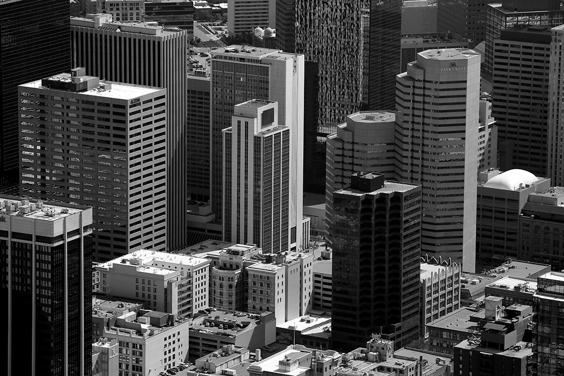 Aerial Downtown Denver