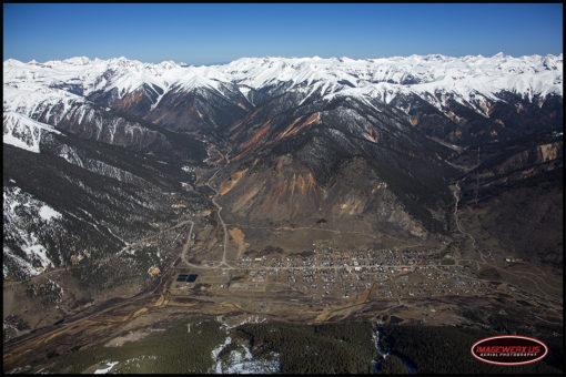Silverton Colorado Aerial