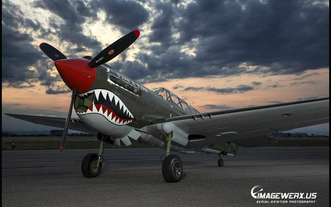 Curtiss P-40 Static Shoot