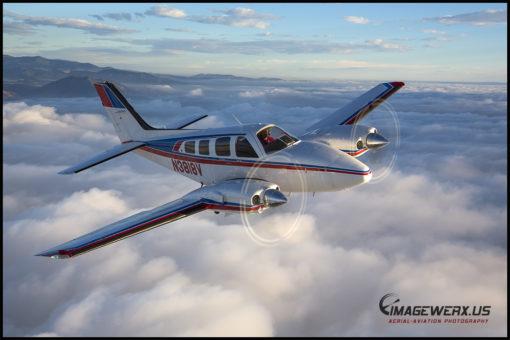Air to Air Beech Baron