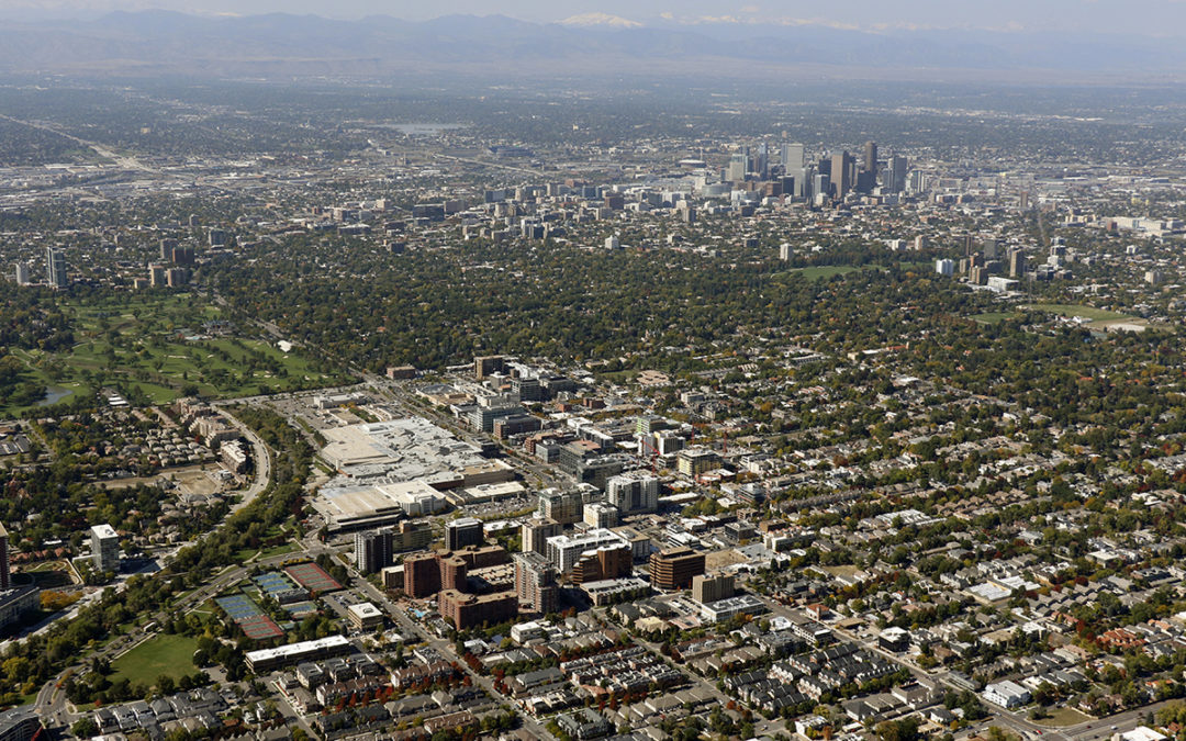 Cherry Creek to Downtown Aerial