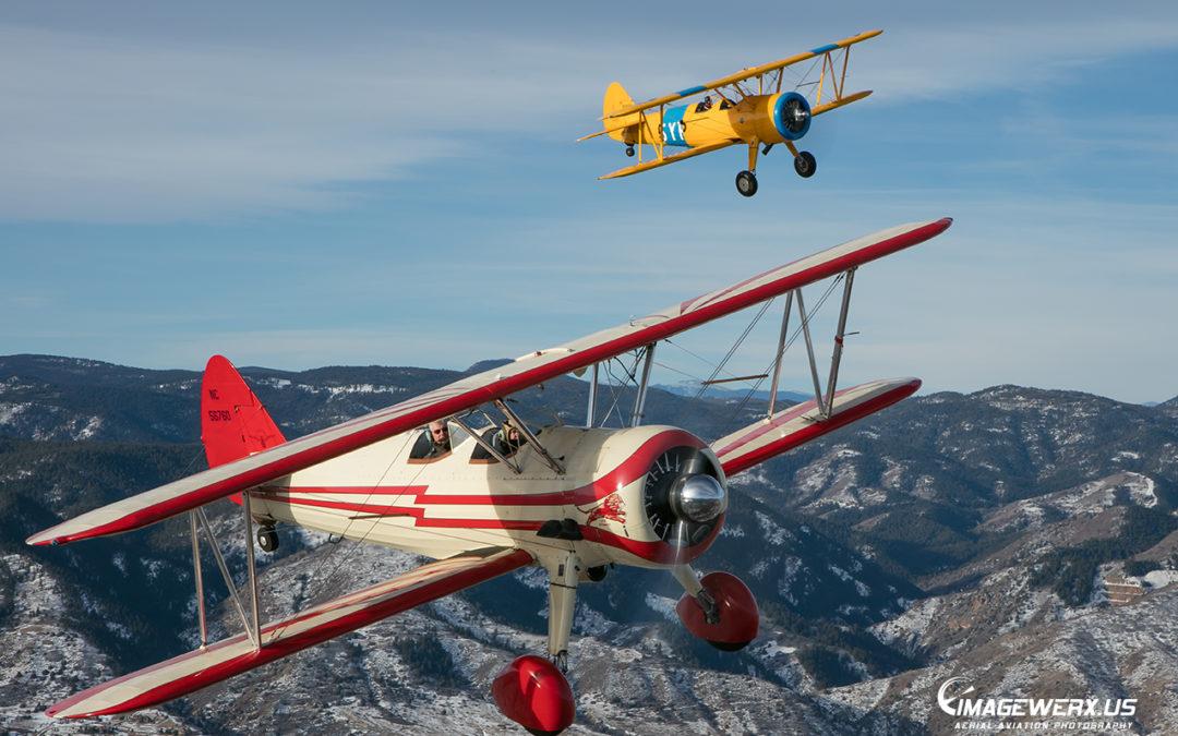 Air to Air Stearmans x2