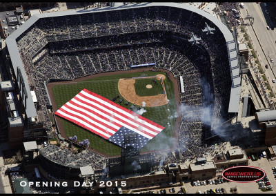 Aerial - Colorado Rockies Opening Day 2015