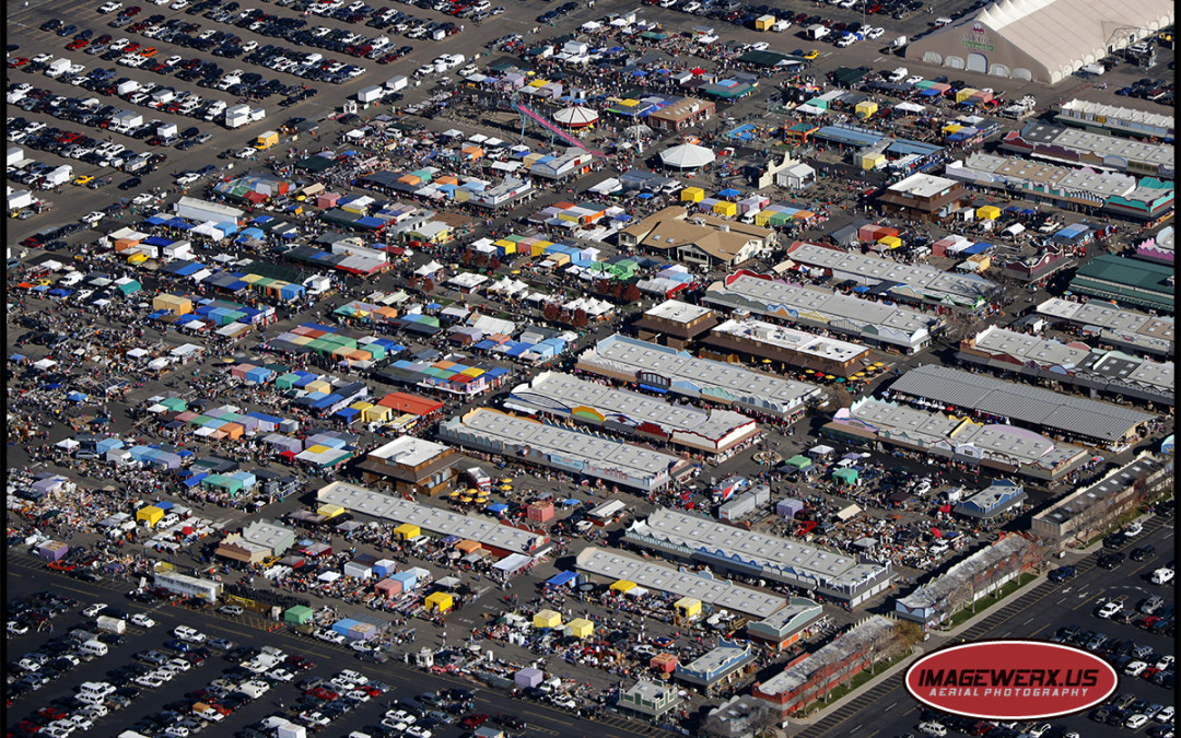 A busy Sunday at the Mile High Flea Market.