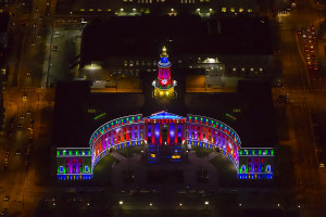 Denver City and County Building Holiday Lights