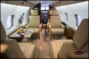 Learjet 55 interior
