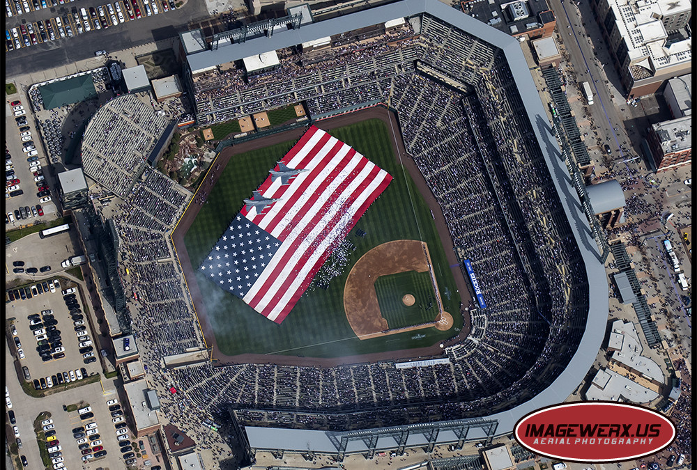 2016 Colorado Rockies Home Opener Fly Over!