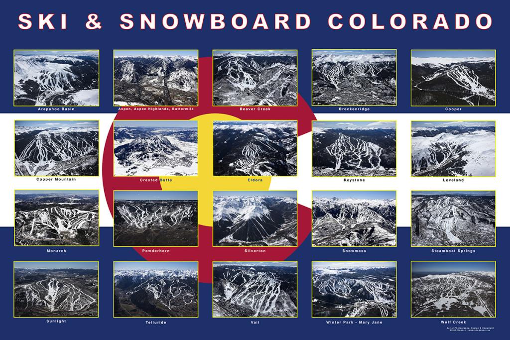 Ski & Snowboard Colorado Collage