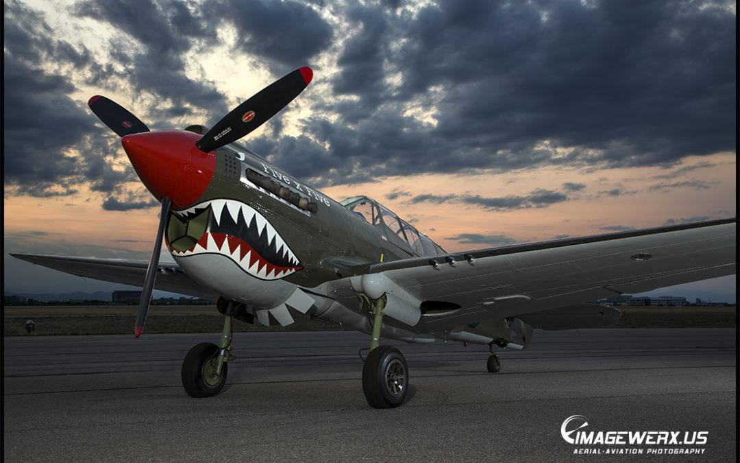Curtiss P-40 Static Shoot