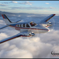 Air to Air Beech Baron