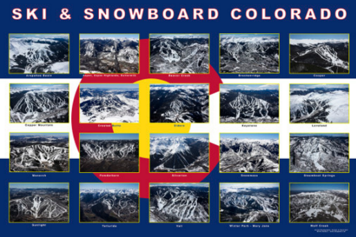 ski and snowboard collage