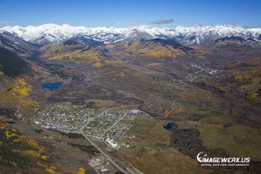 Crested Butte Fall Aerial