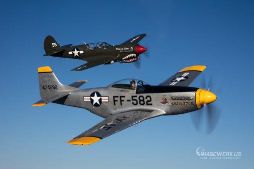 Air to Air P-40 & P-51