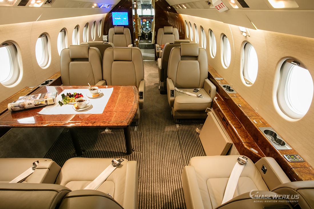 Falcon 2000 Interior  ImageWerx Aerial & Aviation Photography