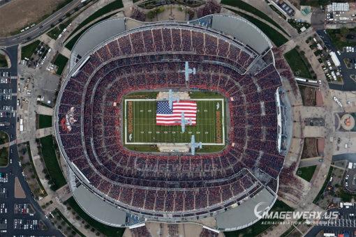 2018 Denver Broncos vs KC Chiefs Flyover Horizontal