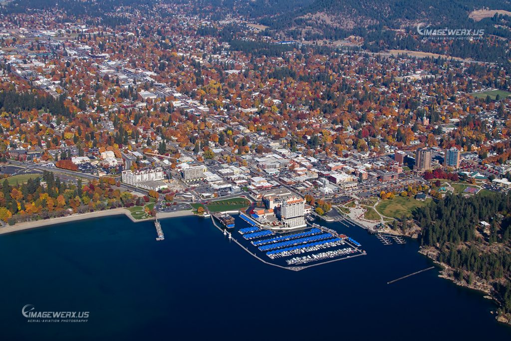 CDA Downtown Aerial 61