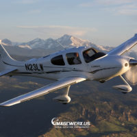 Cirrus SR-22 GTS N23LW Air to Air