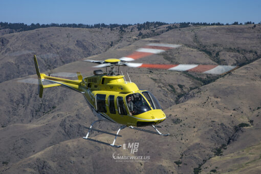 Bell 407 Helicopter Air to Air