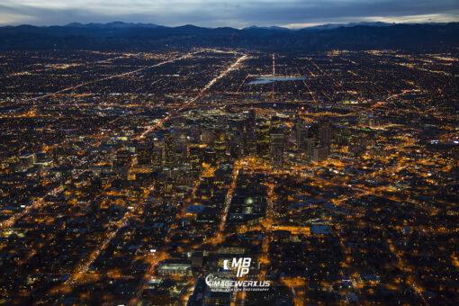 Denver Night Aerial 6380