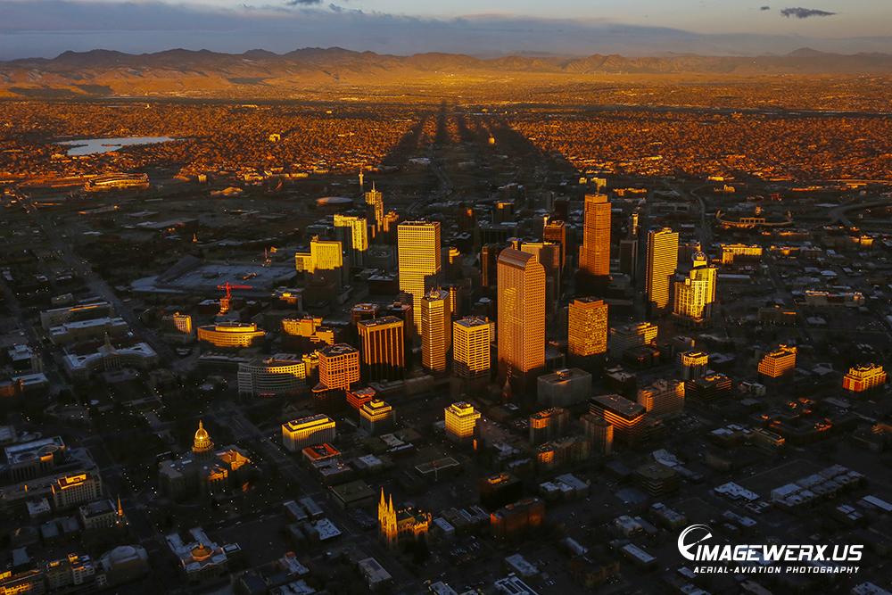 Sunrise Spires on Denver Colorado